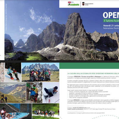 Open 2020, Il turismo accessibile in montagna
